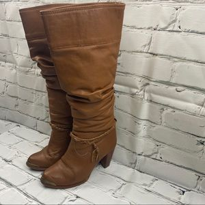 """Zodiac brown boots with 3"""" heel"""